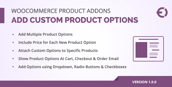 CodeCanyon WooCommerce Product Addons Custom Product Options Plugin 20810733