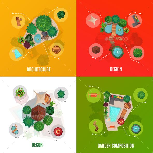 Landscape Design Concept Top View - Business Conceptual