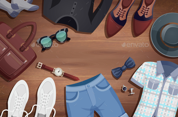GraphicRiver Men Accessories Illustration Background 20810770