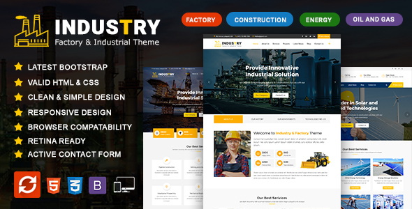 ThemeForest Industry Factory Engineering and Construction Services Template 20711759