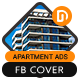 Apartment Facebook Cover Timeline - GraphicRiver Item for Sale
