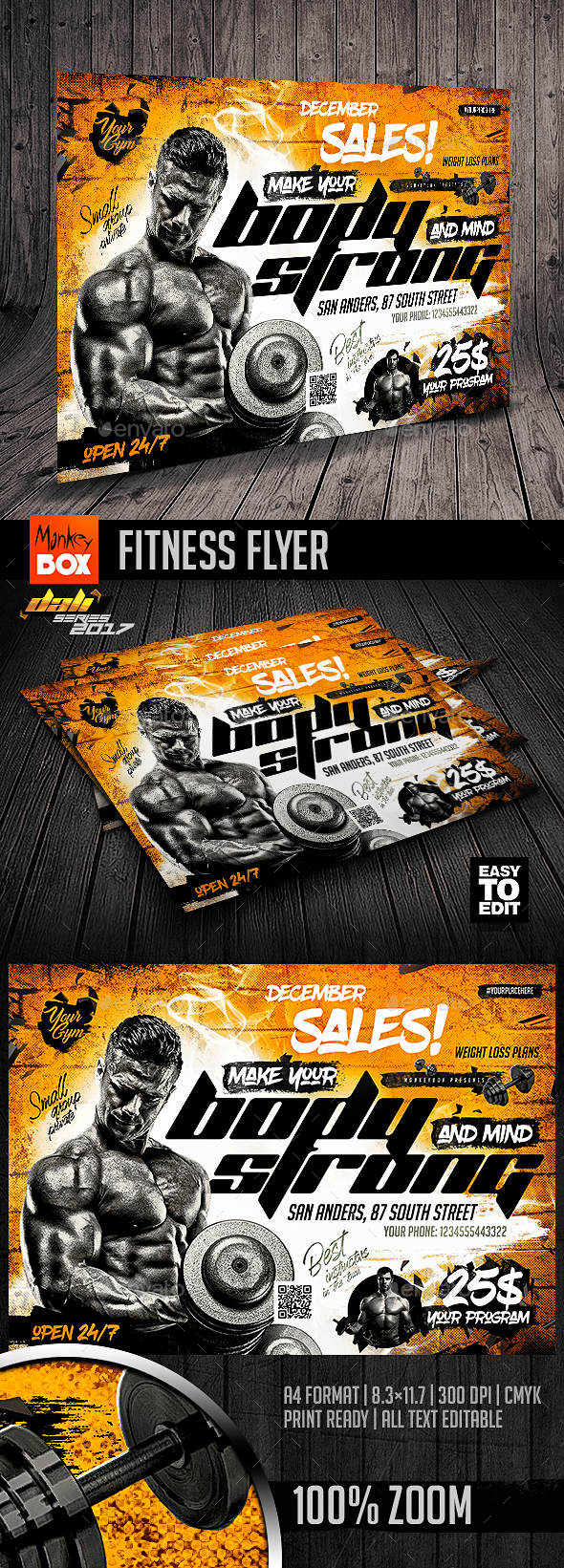 GraphicRiver Fitness Flyer 20810821