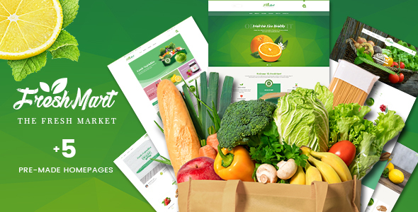 Image of FreshMart - PrestaShop 1.7 Theme - Organic, Fresh Food, Farm