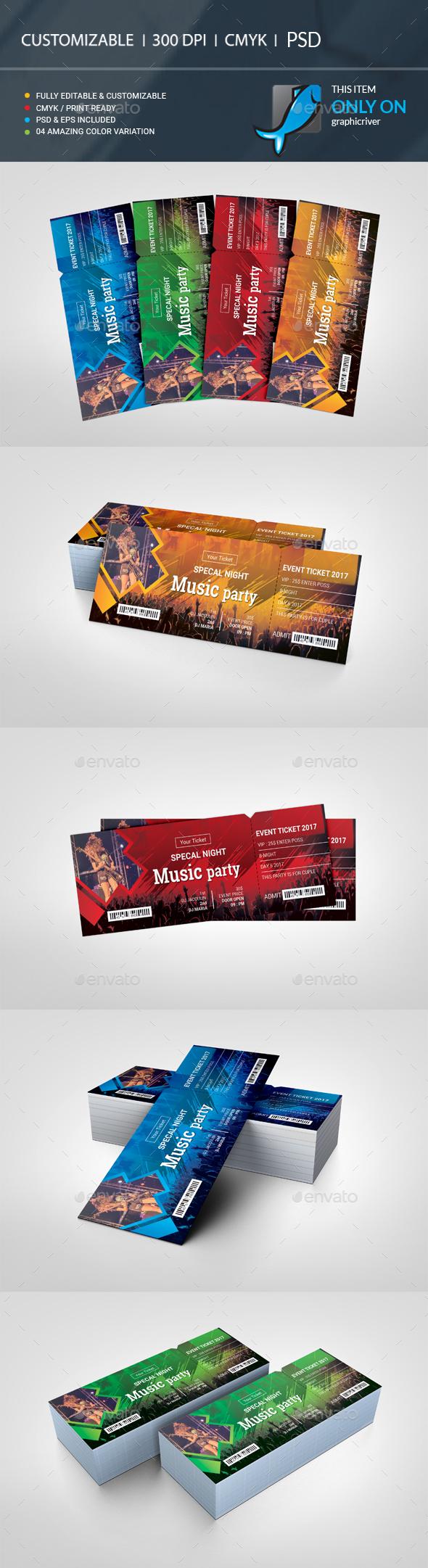 GraphicRiver Ticket VIP 20810857