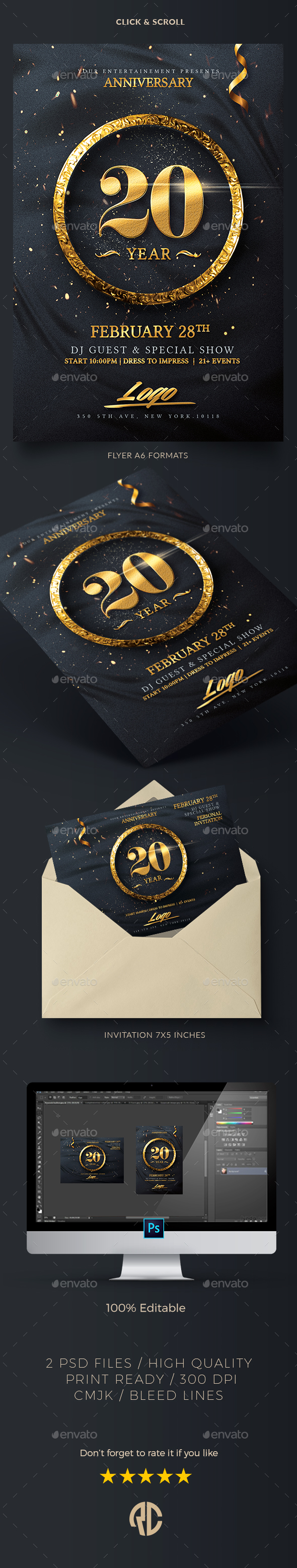 Classy Birthday Invitation - Events Flyers
