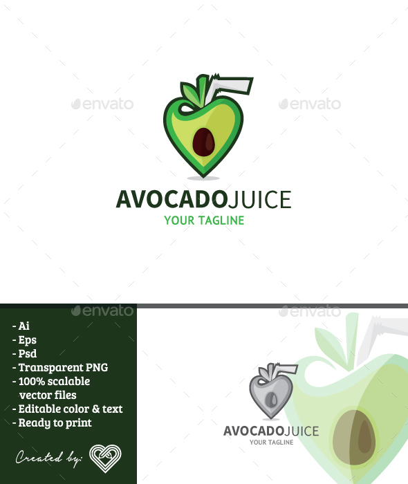 GraphicRiver Avocado Juice 20810899