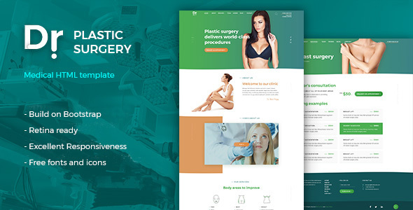 Dr. Plastic Surgery - HTML Template - Health & Beauty Retail