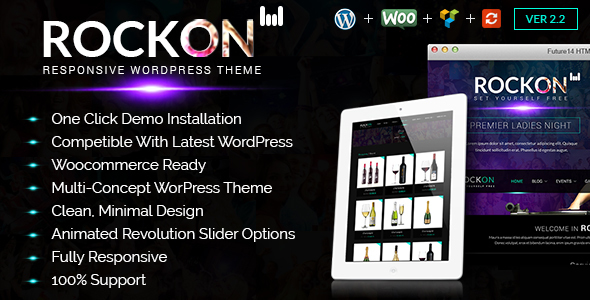 Music Club - Music/Band/Dj/Club/Party WordPress Theme Rockon - Nightlife Entertainment