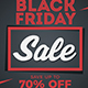 Black Friday Sale Flyer Poster