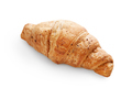Fresh delicious croissant isolated at white background