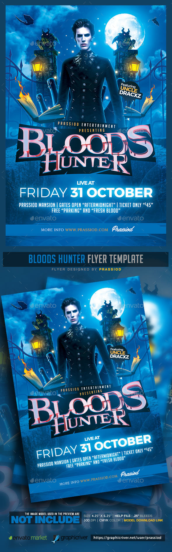 Bloods Hunter Flyer Template - Events Flyers