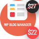 WP Blog Manager - Plugin to Manage / Design WordPress Blog