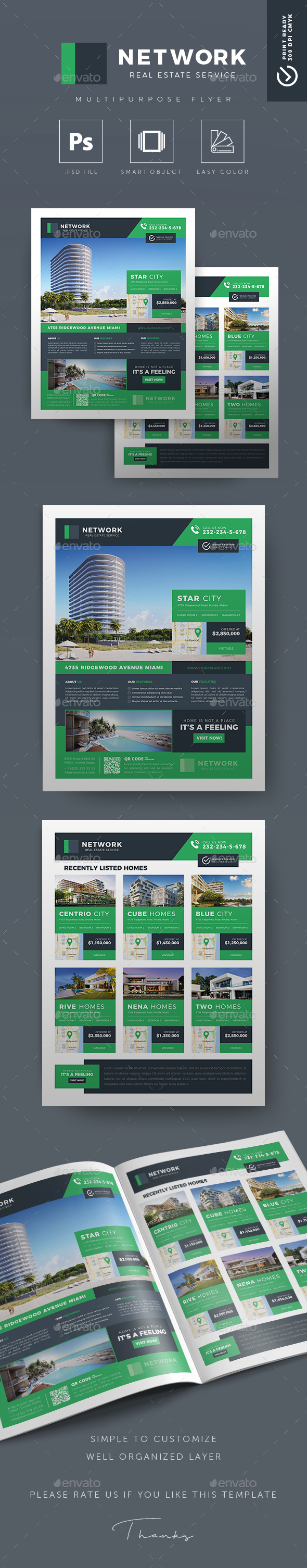 Network v.02 - Creative Real Estate Flyer - Commerce Flyers