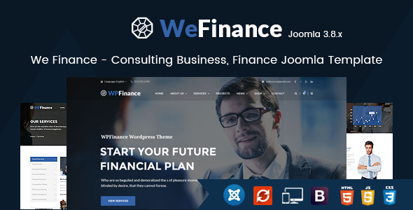 Image of We Finance - Consulting Business, Finance Joomla Template