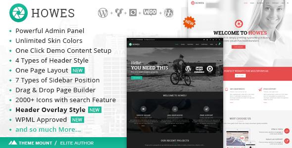 Howes   Responsive Multi-Purpose WordPress Theme - Business Corporate