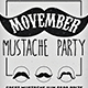 Movember Mustache - GraphicRiver Item for Sale