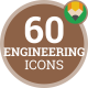 Icons Pack Construction Portfolio Engineering Flat Animated Icons
