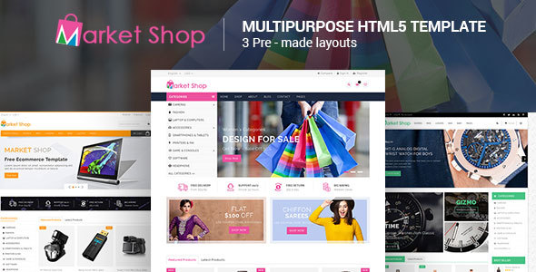 Image of Marketshop - Responsive Multipurpose E-Commerce HTML5 Template
