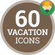 Icons Pack Vacation Trip Travel Safari Adventure Flat Animated Icons