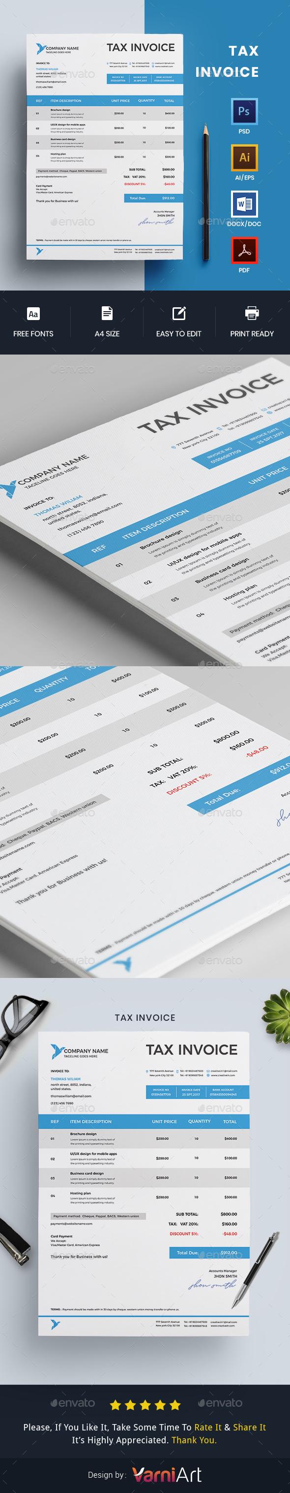 GraphicRiver Invoice Tax invoice 20811407