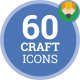 Icons Pack Craft Handmade DIY Tool Flat Animated Icons