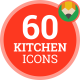Icons Pack Kitchen Accessories Cooking Kitchenware Flat Animated Icons