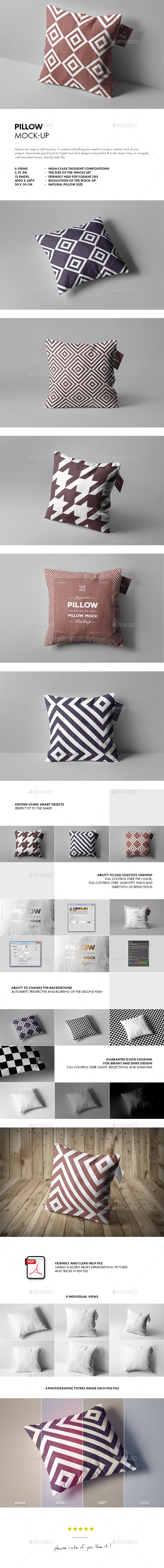 GraphicRiver Pillow Mock-up 20811428