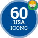 Icons Pack USA United States America Flat Animated Icons