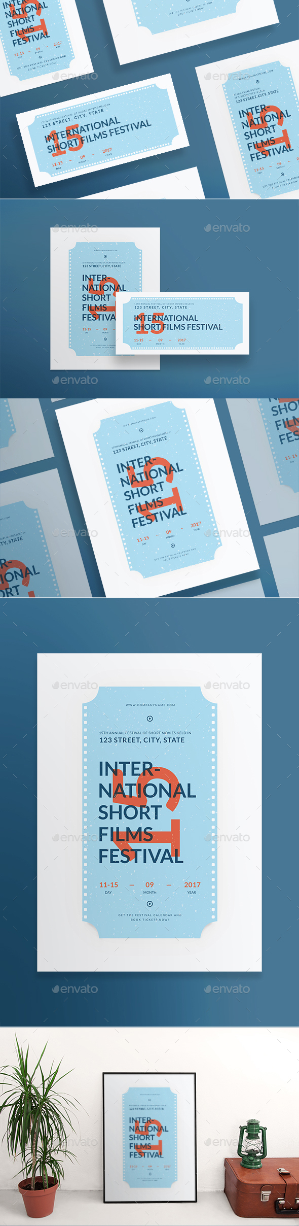 Film festival brochure template stock for Film festival brochure template