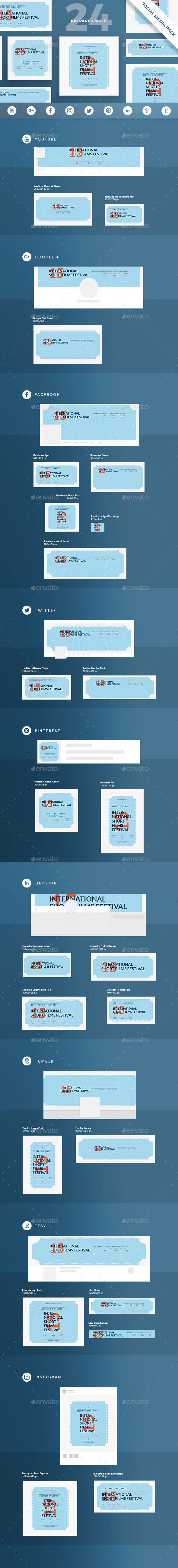 GraphicRiver Film Festival Social Media Pack 20811439