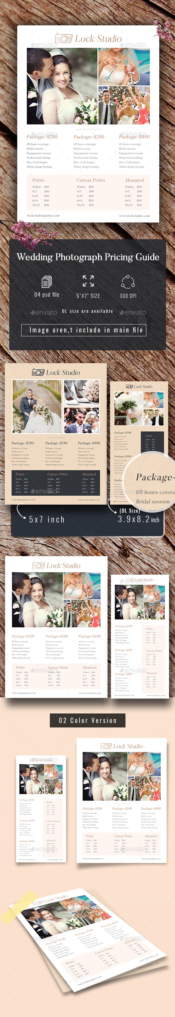 Wedding Photography Price Guide - Commerce Flyers