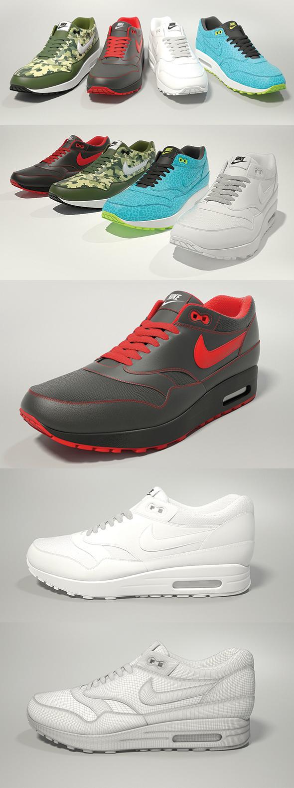 Nike Air Max 1 3D model - 3DOcean Item for Sale