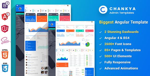 Angular 5 Bootstrap 4 Admin Template