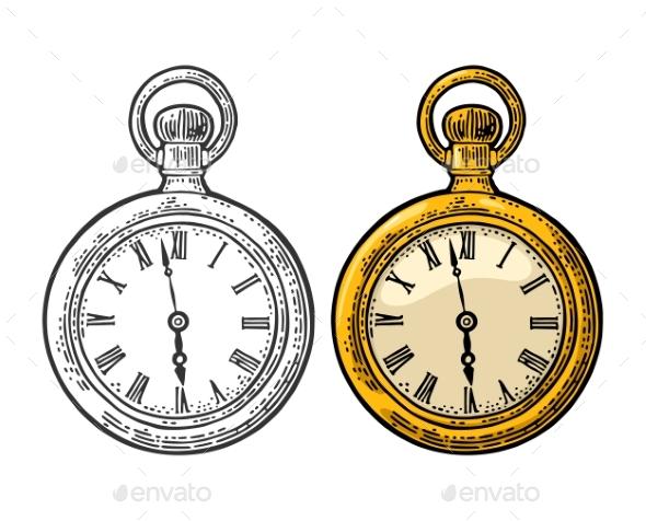 GraphicRiver Antique Pocket Watch 20811517