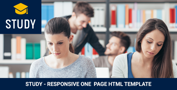 Study - Responsive One  Page HTML Template - Business Corporate