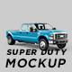 F450 Super Duty Truck Mockup
