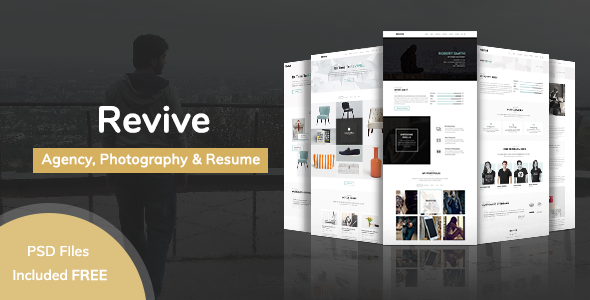 Minimal Portfolio Template - Revive - Portfolio Creative