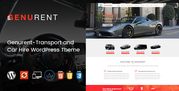 Genurent - Transport and Car Hire WordPress Theme