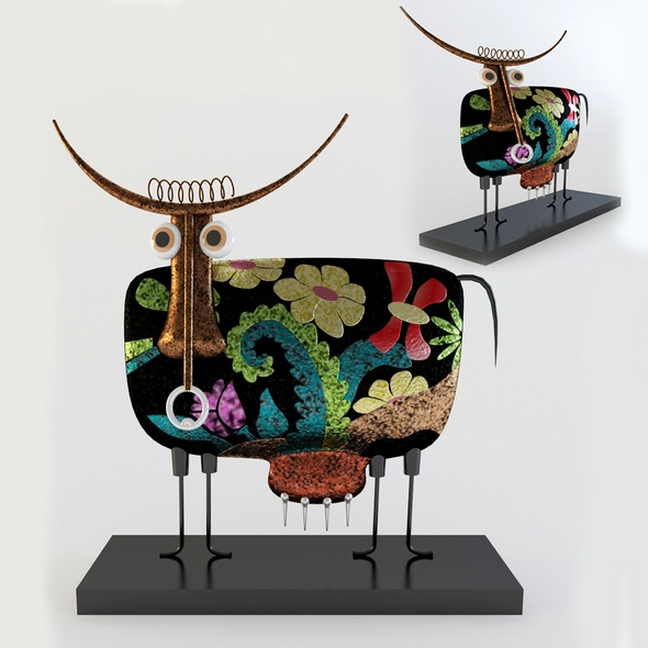 3DOcean Metal bull statuette 20811699