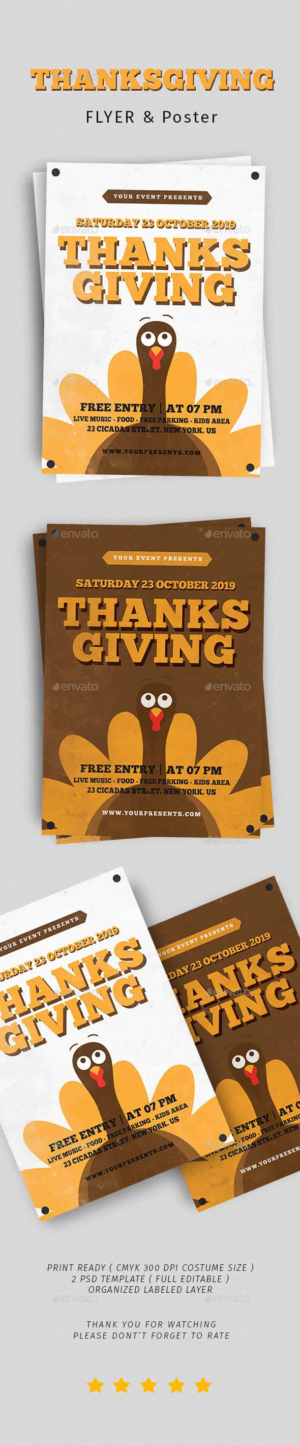 Thanksgiving Flyer Vol. 5 - Flyers Print Templates