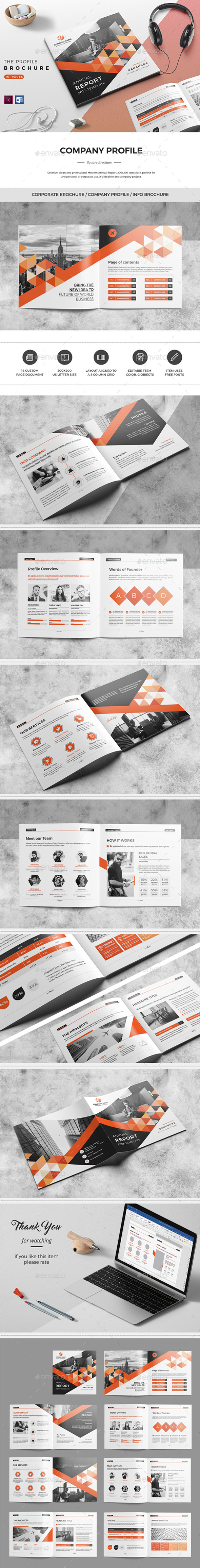 Square Brochure. 16 Pages - Corporate Brochures