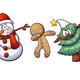 Christmas Dabbing - GraphicRiver Item for Sale
