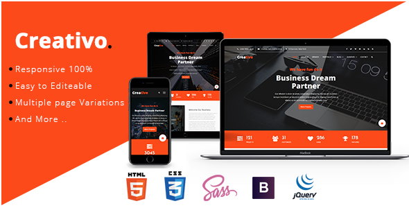 ThemeForest Creative Creative & Corporate HTML5 Template 20680692