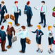 Isometric People Trendy Business 3D Icon Set Vector Illustration - GraphicRiver Item for Sale