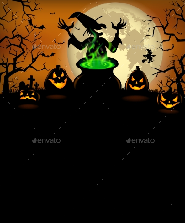 GraphicRiver Halloween Party Invitation with Terrible Pumpkins 20811973