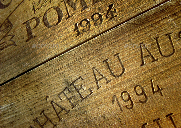 Wine wooden box - Stock Photo - Images