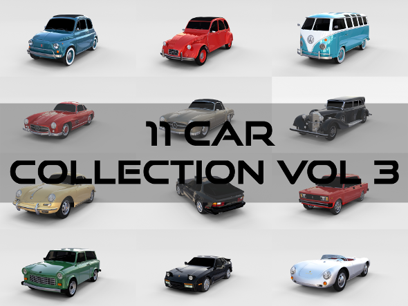 Car Collection Vol 3 - 3DOcean Item for Sale