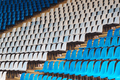 Blue and white plastic stadium seats - PhotoDune Item for Sale