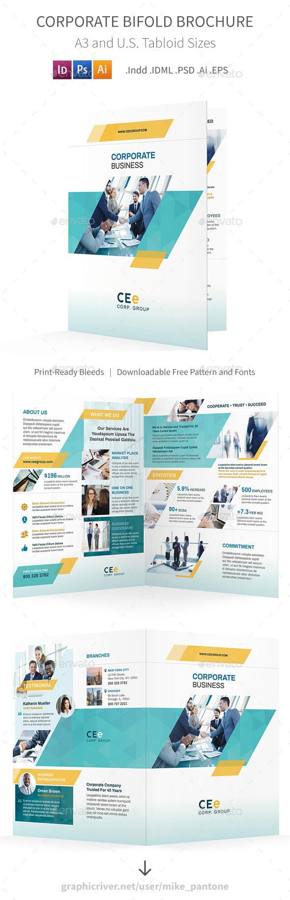 GraphicRiver Corporate Bifold Halffold Brochure 5 20812076
