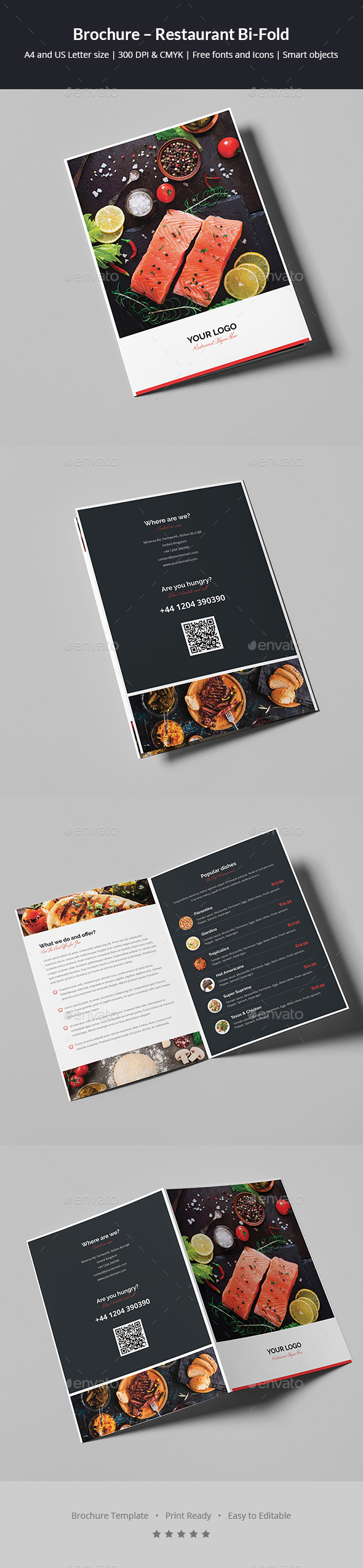 Brochure – Restaurant Bi-Fold - Informational Brochures